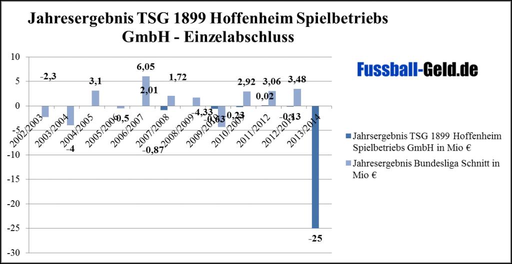 Jahresergebnis TSG 1899 Hoffenheim