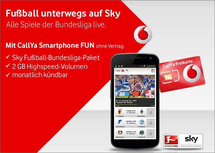 Unter anderem warb Vodafone so mit dem Bundesliagangebot bei Sky /Quelle:Gedankenausbruch.de